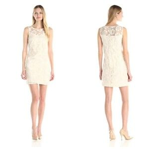 Lace Shift Dress Donna Morgan Floral Sleeveless 10